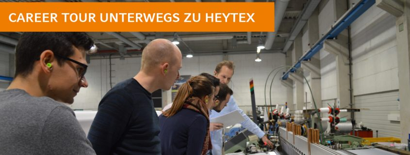 Studenten der Hochschule Osnabrück besuchen auf ihrer Career-Tour durch das Osnabrücker Land den Bramscher Textilhersteller Heytex
