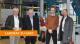 Betriebsbesichtigung bei Heytex (von links): Geschäftsführer Hans-Dieter Kohake, Landkreis-Wirtschaftsförderer Siegfried Averhage, Werksleiter Hanno Wilkens und Landrat Dr. Michael Lübbersmann